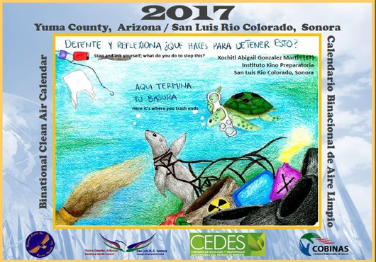 This year's Calendar shows the talent of student from San Luis Rio Colorado